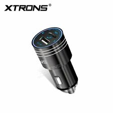 XTRONS Wireless Bluetooth Car Kit FM Transmitter MP3 Music Player USB Charger UK