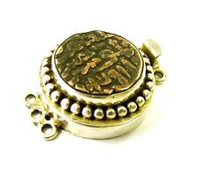 Large Fancy 3 Strand 925 Sterling Silver Ancient Bronze Coin Box Clasp F50