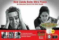 4X Zandu Balm Ultra Power Strong Headache Backache Knee Joint Pain Cold 8ML U.K
