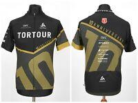 Mens Odlo Tortour Cycling Jersey Black Full Zip Short Sleeve Size XL