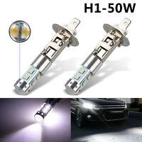 2x H1 100W LED anco Luz de niebla Bombilla de conducción diurna 6000K