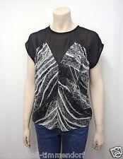 349€ NEU PAUL SMITH Black Label Stretch Tunika Bluse Gr.38 Seide Schwarz
