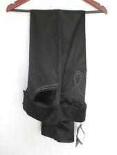 St. John Evening Pants Size 8 Black NWT w/ Embellishment Acetate Nylon Elastane