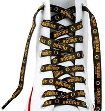 "Boston Bruins Team Logo Colors 54"" Shoe Laces One Pair Lace Ups NHL"