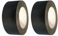 2 Rolls Black Gaffer Gaffa Duct Waterproof Cloth Tape 50mm x 25m
