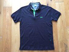 Para Hombres Camisa Polo De Hugo Boss Etiqueta Verde Azul Tamaño Grande