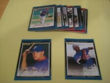 2002 Bowman Montreal Expos Team Set With Draft 18 Cards Jason Bay RC