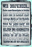 Wir Dorfkinder Blechschild Schild gewölbt Metal Tin Sign 20 x 30 cm CC1030