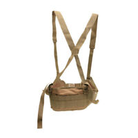 Molle Tactical Military Combat Nylon Waist Padded War Belt w/ Suspender Tan