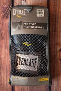 Everlast Boxing Gloves Pro Style Training Black 14 oz Level 1 EUC