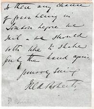 More details for field marshal frederick roberts - british commander - victoria cross -end letter