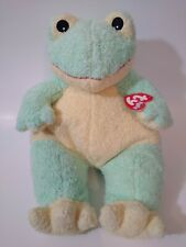 """NEW Baby TY """"Frog Baby"""" w/ Rattle Inside Plush Stuffed Toy ~ RARE"""