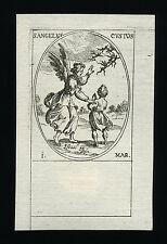 santino incisione 1600 ANGELO CUSTODE  j.callot