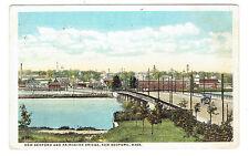 New Bedford Massachusetts New Bedford & Fairhaven Bridge posted 1916