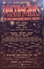 Cast Signed DREAMGIRLS Broadway Benefit Poster Windowcard
