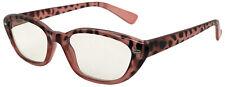 New retro reading glasses pink & black animal print frame & arms +1.5. Box AB