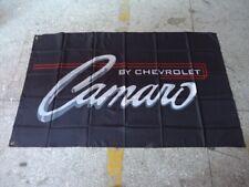 Camaro By Chevrolet SS Car Flag banner 3x5 ft Decor Garage Man Cave Black Chevy