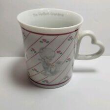 Vtg Precious Moments Enesco 1996 The Perfect Grandma Coffee Cup Mug Heart Shaped
