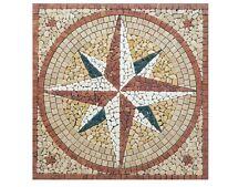 Rosoni rosone mosaico in marmo ,rosa dei venti ccon stelline cm 120X120 CM