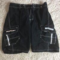 Hurley Mens Casual Cargo Board Shorts Size 32 Black