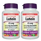 Webber Naturals LUTEIN 25mg 175 softgels 特強補眼葉黃素精華175粒 x 2樽