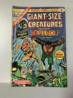 Giant Size Creatures #1, GD/VG 3.0, 1st Appearance Tigra; Marvel Value Stamp