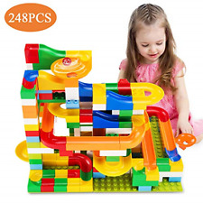Temi 248 Pcs Marble Run Deluxe Sets for Kids | Marble Race Track for 3+ Year Old