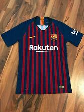 Nike VAPORKNIT Barcelona Fußball Heimtrikot 2018/2019 | Gr S | Blau/Rot | NEU