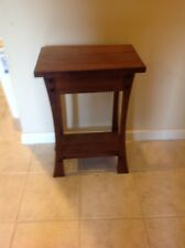 Contemporary Popular Cherry Stained End Table Solid Popular Flared Legs