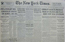 3-1935 March 22 Germany Rejects Protests Made By France & Italy Seeks Deal. 80th