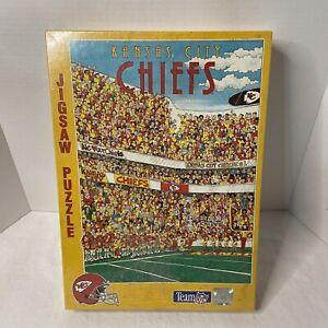 NFL Football Kansas City Chiefs Buffalo Games Puzzle John Holladay 513 Piece NEW