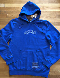 Mitchell & Ness Philadelphia 76ers Mens Hoodie Size Large  Nwt Hardwood Classics