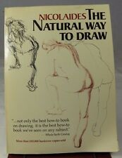The Natural Way to Draw by Nicolaides Art Instruction Book Paperback 221 pages