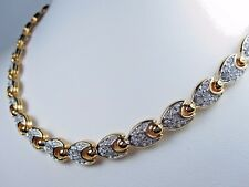 """Crystals - 16-17"""" Length 0908 D'Orlan Gold Plated Necklace with Swarovski"""