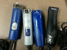 Lot of 4 used Andis and Wahl Clipper Pet