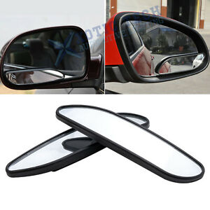 Car Rearview Mirror Blind Spot Side Convex View Wide Angle Van Adjustable 360°
