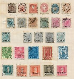 AUSTRIAN ITALY/PO collection early stamps old album page LOMBARDY VENETIA,highCV