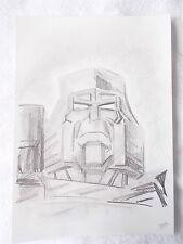 A4 Art Graphite Pencil Sketch Drawing Transformers Megatron Decepticon G1 Leader