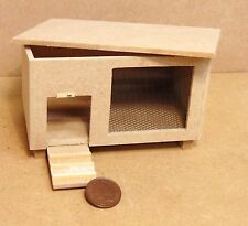 1:12 Scale Natural Finish Wooden Rabbit Hutch Dolls House Miniature Garden DOL
