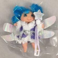 Pearly Fairy Winter Fairykins Wand Purple Coat Blue Hair Lanard 2006 Mini Doll 2