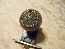 Old Hall / Closet Brass Door Knob & Turnkey, Rosettes, Latch Passage Set, Free S