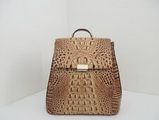 NWT AUTH BRAHMIN MARGO MELBOURNE EMBOSSED LEATHER BACKPACK-$295-TOASTED
