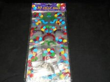 Colored Balloons & Happy Birthday's On Clear Cello Bags 30 count