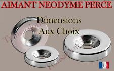 Lot de 10 à 50 aimants Neodyme NdFeB percés puissant magnet tailles diverses