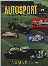 AUTOSPORT DICEMBRE 24th 1954 * nuvolaris più grande gara *