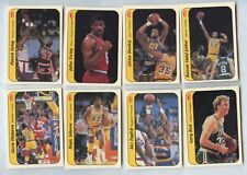 1986-87 Fleer Sticker Partial Set Lot 10/11 minus Michael Jordan