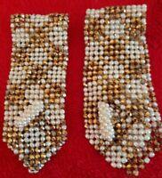 vintage art deco pair of beaded cuffs / stunning / rare
