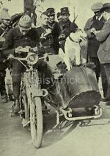 French Army War Dog Prusco Motorbike Sidecar World War 1 7x5 Inch Reprint Photo