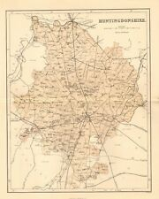 original 1868 colour map of the county of huntingdonshire