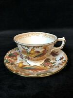 ROYAL CROWN DERBY OLDE AVESBURY A.73 Tea Cup And Saucer Set  Excellent Condition